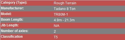 Tadano 8 Ton